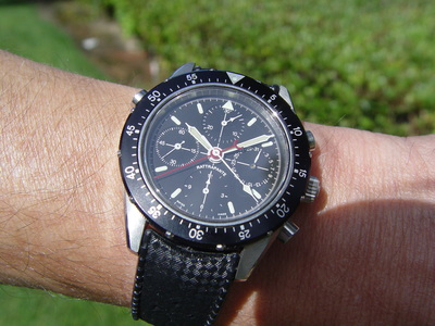 41mm Rattrapante Military chronograph