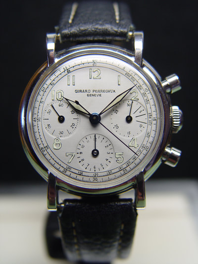 For sale vintage Girard Perregaux w Universal Compax 281