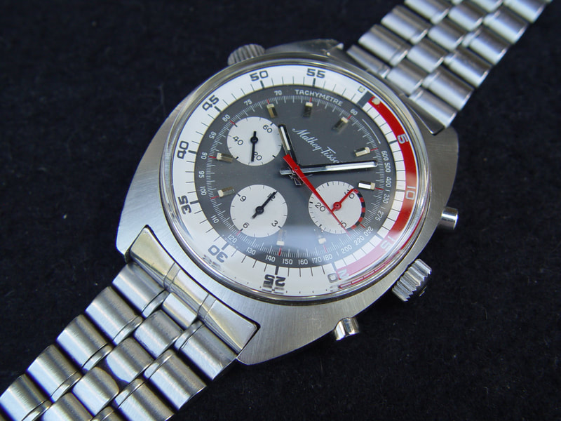 Vintage Mathey Tissot oversized Chronograph Soccer Chronograph