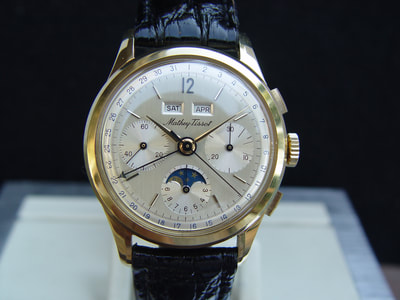 18kt. Mathey Tissot Calendar Chronograph 1984 at Automatique.net