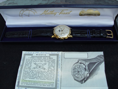 Mathey Tissot w box & papers for sale