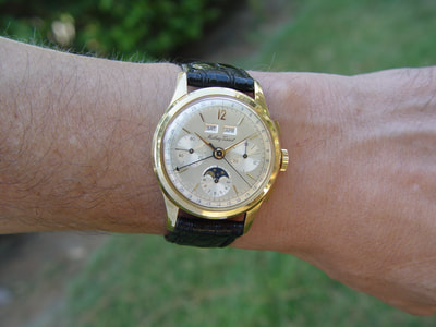 Mathey Tissot Calendar Moonphase chronograph   18ct. Gold