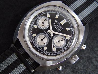 1970 Large Nicolet Watch Chronograph Cal. VJ 7737 for sale