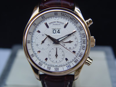 High end Armand Nicolet Big date Chronograph M02 for sale
