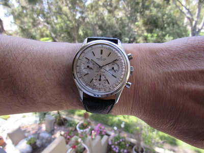 A large 38mm 1960s Chronograph by Breitling