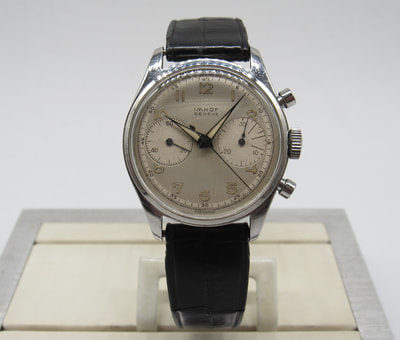 Heuer ref. 3641 big eye Chronograph co branded for sale